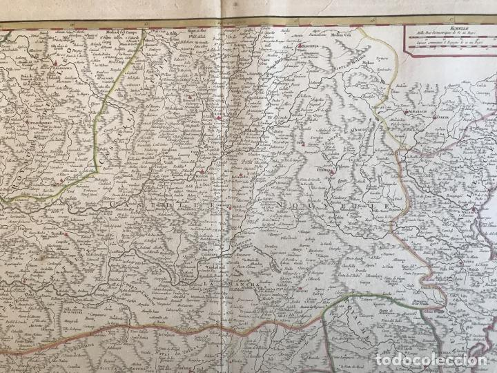 Arte: Gran mapa de Castilla, Extremadura, Andalucia, Murcia y Valencia (España), 1752. Vaugondy - Foto 4 - 190769193