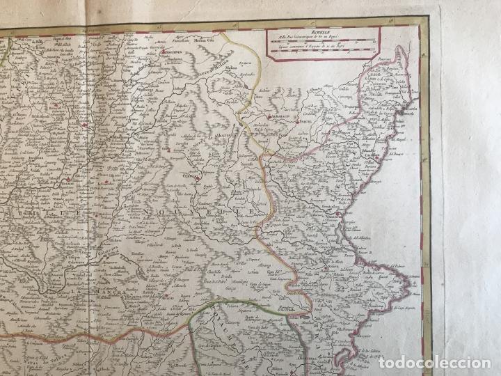 Arte: Gran mapa de Castilla, Extremadura, Andalucia, Murcia y Valencia (España), 1752. Vaugondy - Foto 5 - 190769193