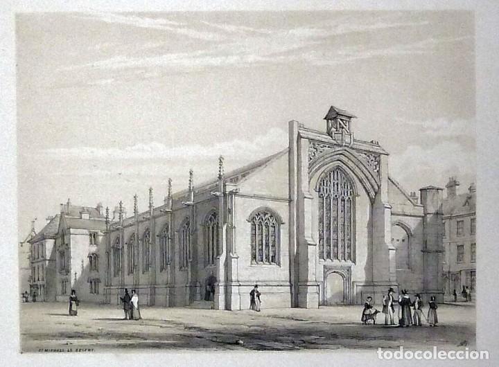 Arte: 1843 - Iglesias de York con personajes y carruajes - 12 Grabados Reino Unido Inglaterra - Foto 7 - 190803818