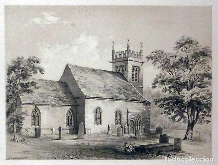 Arte: 1843 - Iglesias de York con personajes y carruajes - 12 Grabados Reino Unido Inglaterra - Foto 9 - 190803818