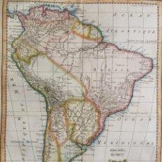 Arte: SURAMÉRICA J.N. BELLIN, 1758, CARTE DE L'AMERIQUE MÉRIDIONALE. Lote 190913951