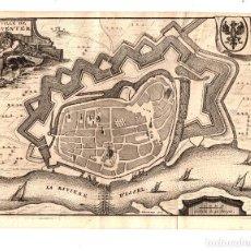 Arte: MAPA LA VILLE DE DEVENTER. PAISES BAJOS. SIGLO XVIII. Lote 190921133