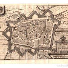 Arte: MAPA LA VILLE DE LEWARDE. FRANCIA. SIGLO XVIII. Lote 190921640