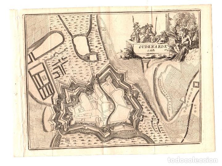 MAPA OUDENARDE. BELGICA. SIGLO XVIII (Arte - Cartografía Antigua (hasta S. XIX))