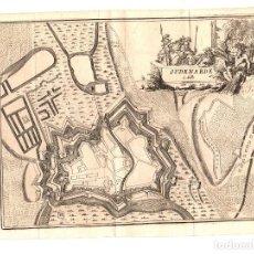 Arte: MAPA OUDENARDE. BELGICA. SIGLO XVIII. Lote 190926448