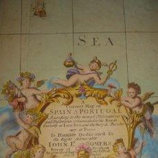 Arte: GRANDIOSO MAPA ESPAÑA, SENEX - MAXWELL,ORIGINAL, 1714, LONDRES,ENORME TAMAÑO, IMPOSIBLE MEJOR PRECIO. Lote 191095615