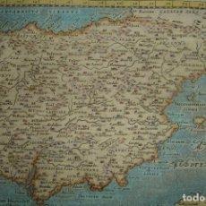 Arte: ESPLÉNDIDO MAPA DE ESPAÑA, ORIGINAL, PADUA 1621, MAGINI / PTOLOMEO, PERFECTO ESTADO Y COLOREADO.. Lote 191100486