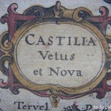 Arte: MAPA DE CASTILLA LA VIEJA Y LA NUEVA, ORIGINAL,1630,MERCATOR / HONDIUS. Y COLOREADO. Lote 191101936