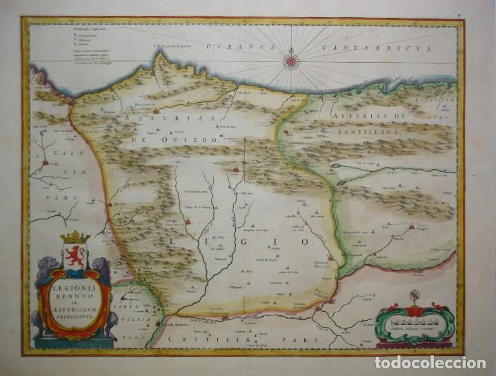 Mapa De Asturias Y Cantabria Del Siglo Xvii De Comprar