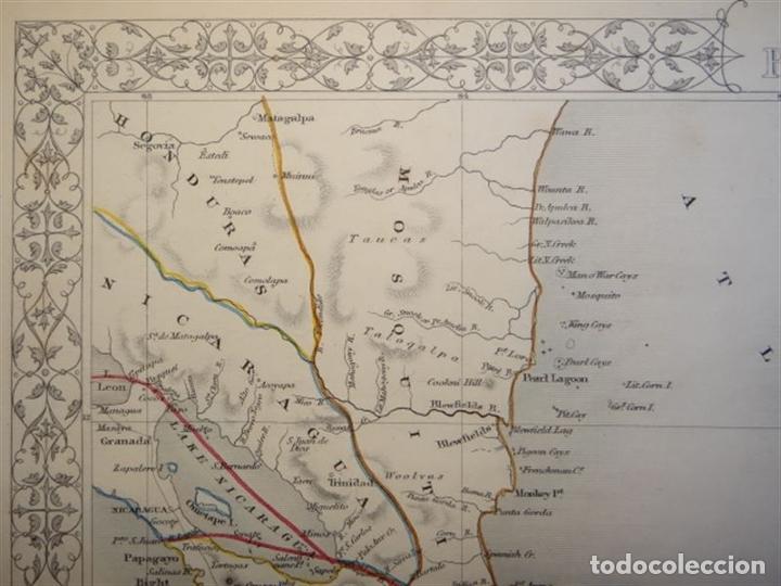 Arte: Mapa del istmo de Panamá (América central), ca. 1851. Tallis/Rapkin/Wrigtson y Warren - Foto 4 - 249539780
