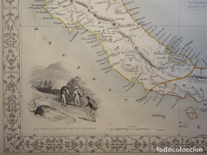 Arte: Mapa del istmo de Panamá (América central), ca. 1851. Tallis/Rapkin/Wrigtson y Warren - Foto 5 - 249539780