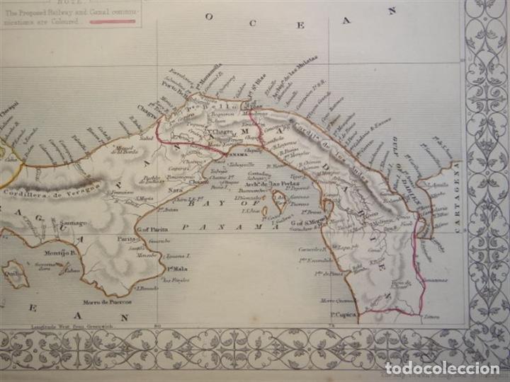Arte: Mapa del istmo de Panamá (América central), ca. 1851. Tallis/Rapkin/Wrigtson y Warren - Foto 7 - 249539780