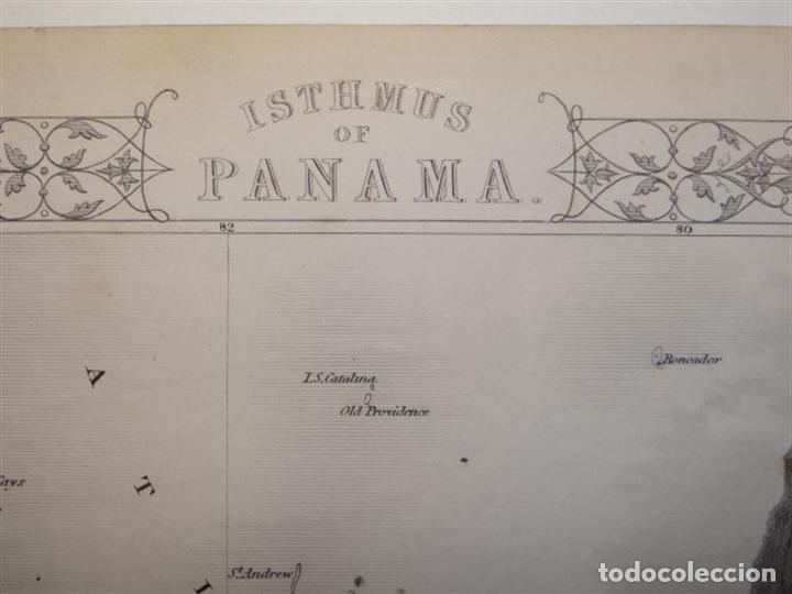 Arte: Mapa del istmo de Panamá (América central), ca. 1851. Tallis/Rapkin/Wrigtson y Warren - Foto 8 - 249539780