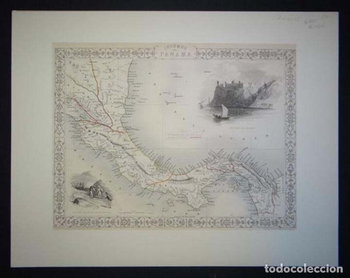 Arte: Mapa del istmo de Panamá (América central), ca. 1851. Tallis/Rapkin/Wrigtson y Warren - Foto 9 - 249539780