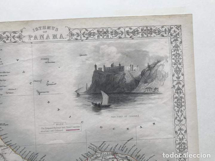 Arte: Mapa del istmo de Panamá (América central), ca. 1851. Tallis/Rapkin/Wrigtson y Warren - Foto 13 - 249539780