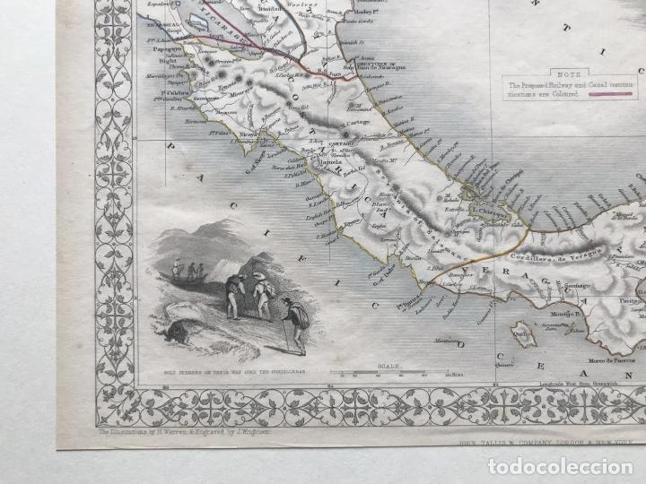 Arte: Mapa del istmo de Panamá (América central), ca. 1851. Tallis/Rapkin/Wrigtson y Warren - Foto 15 - 249539780