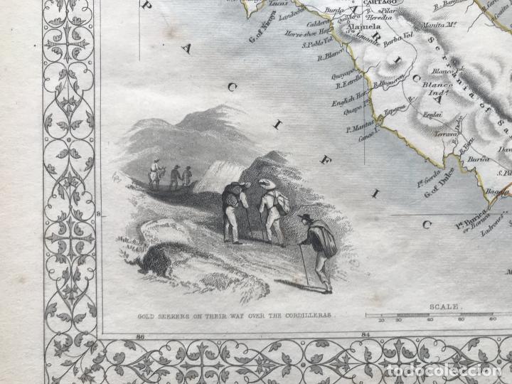 Arte: Mapa del istmo de Panamá (América central), ca. 1851. Tallis/Rapkin/Wrigtson y Warren - Foto 17 - 249539780