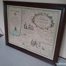Arte: ANTIGUO GRABADO DE MAPA PAIS DE GARBURE FRANCIA. Lote 191282666