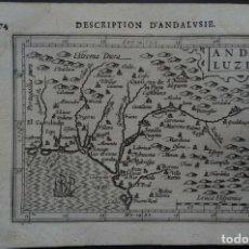 Arte: MAPA DE LA ANDALUCÍA OCCIDENTAL (ESPAÑA), 1616. BERTIUS/HONDIUS. Lote 191463688