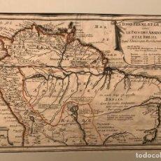 Arte: MAPA DEL NORTE DE AMÉRICA DEL SUR, 1701. NICOLAS DE FER/INSELIN. Lote 191518618