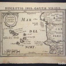 Arte: ISLAS DE CABO VERDE Y COSTA OCCIDENTAL (ÁFRICA), 1616. BERTIUS/HONDIUS. Lote 191880411
