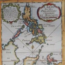 Arte: FILIPINAS, INDONESIA, MAPA POR BELLIN, 1746, CARTE DES ISLES PHILIPPINES CELEBES ET MOLUQUES. Lote 191889328