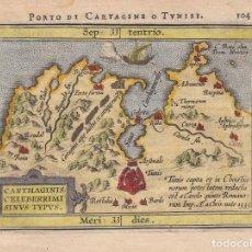Arte: MAPA DE CARTAGO Y BAHIA DE TÚNEZ (NORTE DE ÁFRICA), 1612. ORTELIUS/ARSENIUS/PLANTIN. Lote 192181387