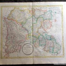 Arte: MAPA 1801 - PROVINCIA SALAMANCA - CHARTA SALAMANTICAM - TOMÁS LÓPEZ / HOMANN - COLOREADO. Lote 192723845