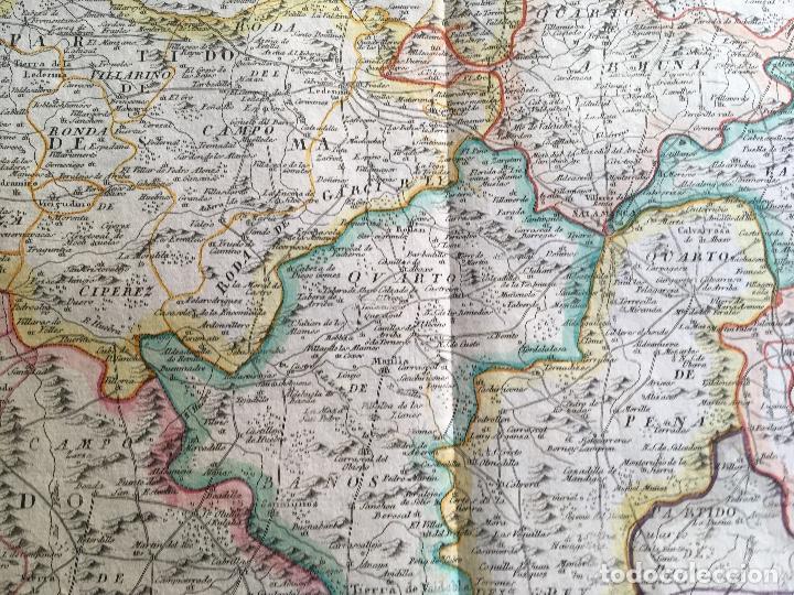 Arte: MAPA 1801 - Provincia SALAMANCA - CHARTA SALAMANTICAM - TOMÁS LÓPEZ / HOMANN - COLOREADO - Foto 3 - 192723845