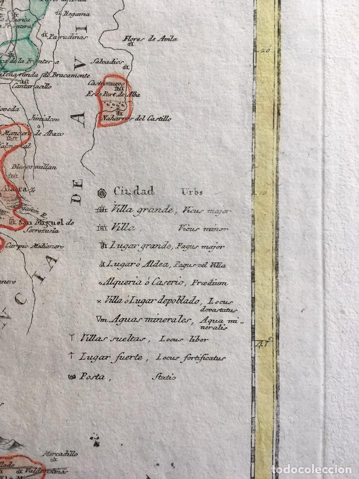 Arte: MAPA 1801 - Provincia SALAMANCA - CHARTA SALAMANTICAM - TOMÁS LÓPEZ / HOMANN - COLOREADO - Foto 5 - 192723845