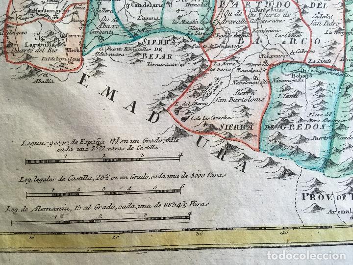 Arte: MAPA 1801 - Provincia SALAMANCA - CHARTA SALAMANTICAM - TOMÁS LÓPEZ / HOMANN - COLOREADO - Foto 6 - 192723845