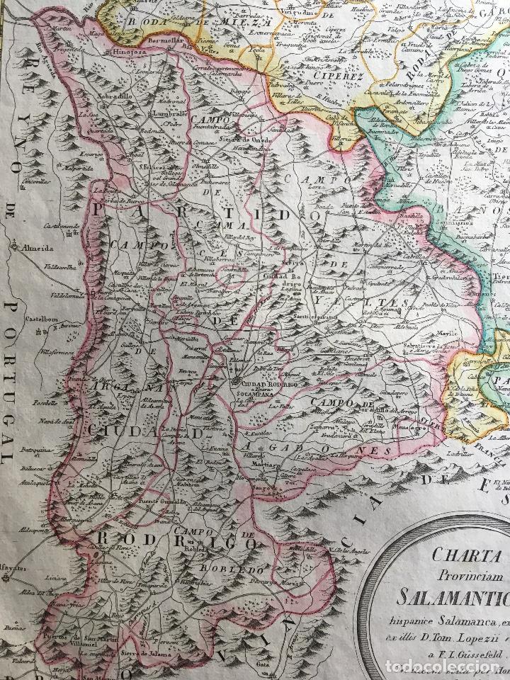 Arte: MAPA 1801 - Provincia SALAMANCA - CHARTA SALAMANTICAM - TOMÁS LÓPEZ / HOMANN - COLOREADO - Foto 7 - 192723845