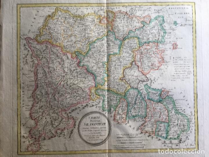 Arte: MAPA 1801 - Provincia SALAMANCA - CHARTA SALAMANTICAM - TOMÁS LÓPEZ / HOMANN - COLOREADO - Foto 8 - 192723845