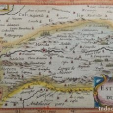 Arte: EXTREMADURA, MÉRIDA, BADAJOZ… BERTIUS/HONDIUS, 1618, ESTREMADURA. Lote 192969872