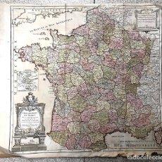 Arte: CARTE DES POSTES DE FRANCE. PARIS. DEFNOS. 1790. Lote 193705070