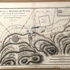 Arte: MAPA ESSAI SUR LA BATAILLE DE PLATÉE. GRECIA. PAR J.D. BARBIE DU BOCAGE. C. 1800. Lote 193713383