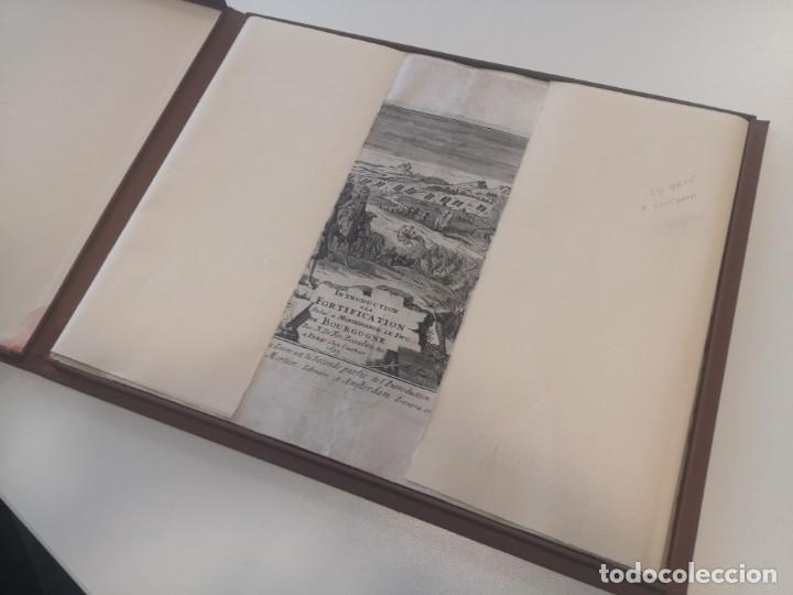 Arte: Magnifico estuche con 25 Grabados Originales de Nicolas de Fer - Fortificaciones de Europa - 1693 - Foto 2 - 193714890
