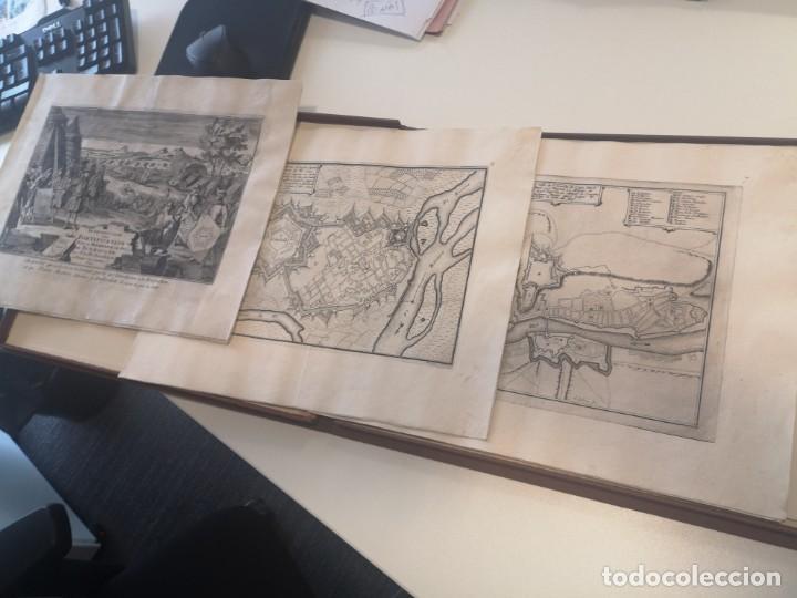 Arte: Magnifico estuche con 25 Grabados Originales de Nicolas de Fer - Fortificaciones de Europa - 1693 - Foto 3 - 193714890
