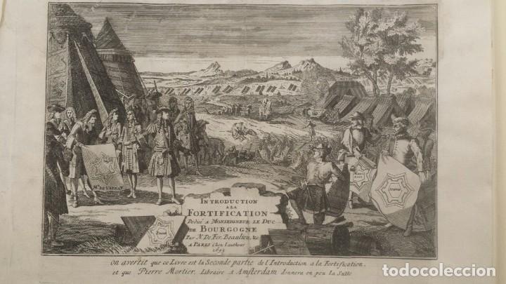 Arte: Magnifico estuche con 25 Grabados Originales de Nicolas de Fer - Fortificaciones de Europa - 1693 - Foto 4 - 193714890
