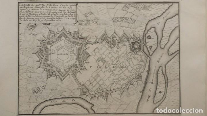 Arte: Magnifico estuche con 25 Grabados Originales de Nicolas de Fer - Fortificaciones de Europa - 1693 - Foto 9 - 193714890