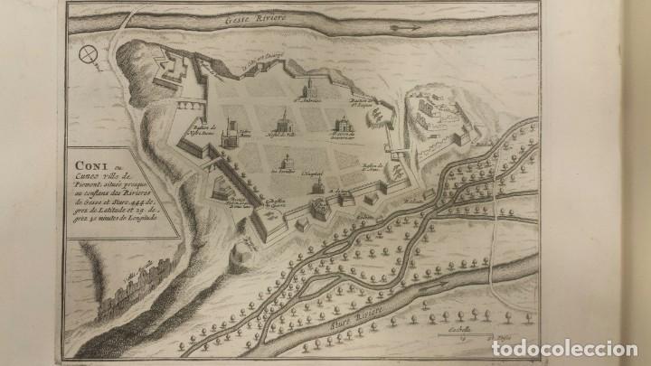 Arte: Magnifico estuche con 25 Grabados Originales de Nicolas de Fer - Fortificaciones de Europa - 1693 - Foto 13 - 193714890