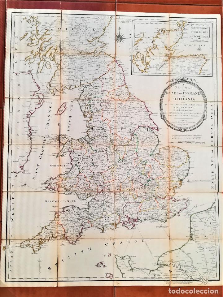 CARTOGRAFIA,ANTIGUO MAPA SIGLO XVIII,INGLATERRA Y ESCOCIA, AÑO 1789 DE ROBERT SAYER,LONDON.MILITAR (Arte - Cartografía Antigua (hasta S. XIX))