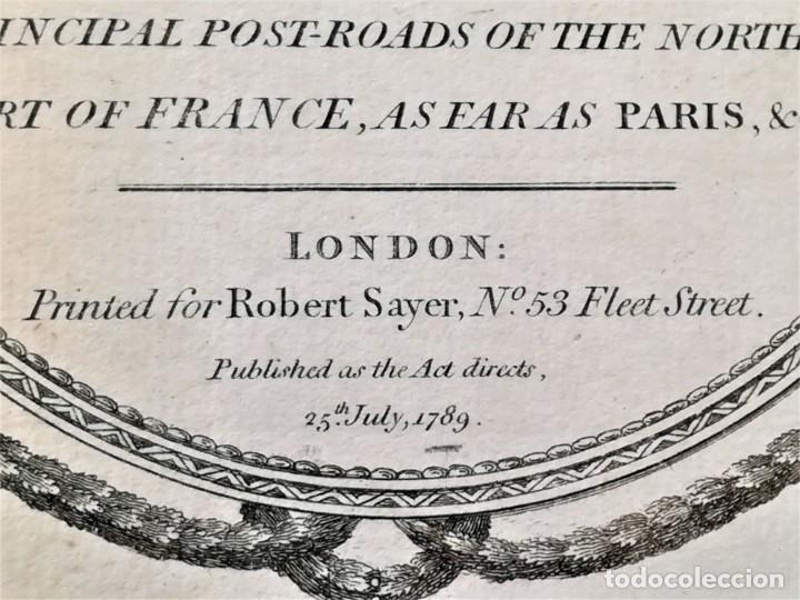 Arte: CARTOGRAFIA,ANTIGUO MAPA SIGLO XVIII,INGLATERRA Y ESCOCIA, AÑO 1789 DE ROBERT SAYER,LONDON.MILITAR - Foto 5 - 194103491