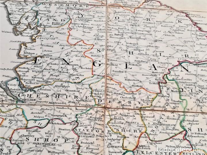 Arte: CARTOGRAFIA,ANTIGUO MAPA SIGLO XVIII,INGLATERRA Y ESCOCIA, AÑO 1789 DE ROBERT SAYER,LONDON.MILITAR - Foto 10 - 194103491