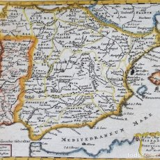 Arte: ESPAÑA Y PORTUGAL, MAPA POR ROBERT MORDEN, 1688, A NEW MAP OF HISPANIA AND PORTUGALLIA. Lote 194127563