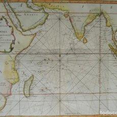 Arte: OCÉANO ÍNDICO, ÁFRICA, INDIA, ARABIA, AUSTRALIA ... MAPA BELLIN, 1754, CARTE DE L´OCEAN ORIENTAL... Lote 194144170