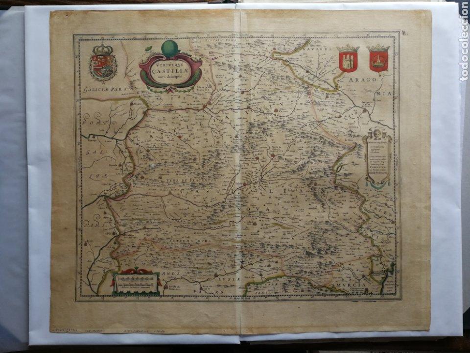 MAPA DE CASTILLA. BLAEU-HONDIUS C. 1640 (Arte - Cartografía Antigua (hasta S. XIX))
