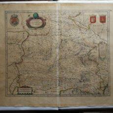 Arte: MAPA DE CASTILLA. BLAEU-HONDIUS C. 1640. Lote 194188913
