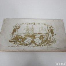 Arte: ÁLBUM BANDERAS - PAVILLONS DES PRINCIPAUX ÉTATS DU GLOVE - F. COURTIN, A. VUILLEMIN - S. XIX. Lote 194554090