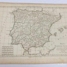 Arte: AÑO 1780 - MAPPA HISPANIEAE ANTIQUAE - MAPA ESPAÑA ANTIGUA POR RTO. BONA, PRIMARIO HYDROGRAPHO NAVAL. Lote 194582326